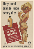 view They Need Orange Juice Every Day/ the Concentrated Juice of 12 Fresh Oranges for Children Holding Green Ration Books ... digital asset: They Need Orange Juice Every Day/ the Concentrated Juice of 12 Fresh Oranges for Children Holding Green Ration Books ...