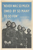 """view """"Never Was So Much Owed by So Many to So Few"""" the Prime Minister digital asset: """"Never Was So Much Owed by So Many to So Few"""" the Prime Minister"""