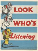 view Look Who's Listening. Seagram Distillers Corporation. digital asset: Look Who's Listening. Seagram Distillers Corporation