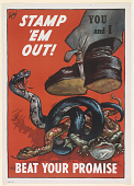 view Stamp 'Em Out! Beat Your Promise. Rca Manufacturing Company Incorporated. digital asset: Stamp 'Em Out! Beat Your Promise. Rca Manufacturing Company Incorporated