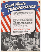 view Don't Waste Transportation of the 6,800 Pullman Sleeping Cars ... A Large Part Are Assigned to Troop Service ... digital asset: Don't Waste Transportation of the 6,800 Pullman Sleeping Cars ... A Large Part Are Assigned to Troop Service ...