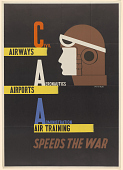 view Civil Aeronautics Administration / Airways Airports Air Training Speeds the War digital asset: Civil Aeronautics Administration / Airways Airports Air Training Speeds the War