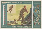view Help equip G.I. Joe with your war savings ... Treasury Department. digital asset: Help equip G.I. Joe with your war savings ... Treasury Department