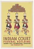 view Pueblo Turtle Dancers ... Indian Court Federal Building ... digital asset: Pueblo Turtle Dancers ... Indian Court Federal Building ...