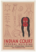 view Chippewa Picture Writing Seneca Mask Eastern Woodlands Indian Court Federal Building ... digital asset: Chippewa Picture Writing Seneca Mask Eastern Woodlands Indian Court Federal Building ...