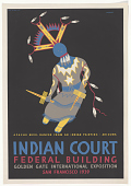 view Apache Devil Dancer From an Indian Painting Arizona Indian Court Federal Building ... digital asset: Apache Devil Dancer From an Indian Painting Arizona Indian Court Federal Building ...