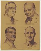 view Winston S. Churchill/ Franklin D Roosevelt/ Joseph Stalin/ Chiang Kai-Shek digital asset: Winston S. Churchill/ Franklin D Roosevelt/ Joseph Stalin/ Chiang Kai-Shek