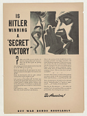 "view Is Hitler Winning a ""Secret"" Victory? ... Buy War Bonds Regularly"" digital asset: Is Hitler Winning a ""Secret"" Victory? ... Buy War Bonds Regularly"""