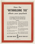 """view How the """"Withholding Tax"""" Affects Your Paycheck ... (July 1, 1943). Treasury Department. digital asset: How the """"Withholding Tax"""" Affects Your Paycheck ... (July 1, 1943). Treasury Department"""