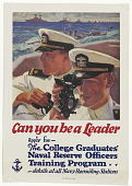 view Can You Be a Leader / Apply for the College Graduates' Naval Reserve Officers Training Program ... U.S digital asset: Can You Be a Leader / Apply for the College Graduates' Naval Reserve Officers Training Program ... U.S