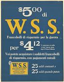 view $5.00 di W.S.S. Francobolli di risparmio per la guerra... digital asset: $5.00 di W.S.S. Francobolli di risparmio per la guerra...