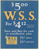 view $5.00 W.S. S. For $4.12. Will Cost 1c More Each Month After Feb. 1st 1918... digital asset: $5.00 W.S. S. For $4.12. Will Cost 1c More Each Month After Feb. 1st 1918...