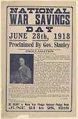 view National War Savings Day June 28th, 1918 Proclaimed by Gov. Stanley ... Governor A. O. Stanley of Kentucky. digital asset: National War Savings Day June 28th, 1918 Proclaimed by Gov. Stanley ... Governor A. O. Stanley of Kentucky