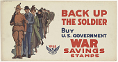 view Back Up the Soldier- Buy U.S. Government War Savings Stamps. digital asset: Back Up the Soldier- Buy U.S. Government War Savings Stamps