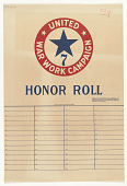 view Honor Roll When 75% of Our People Have Subscribed, We Receive United War Work Campaign Honor Sign ... . Y.W.C.A.; Y.M.C.A.; Jewish Welfare Board; National Catholic War Council -- Knights of Columbus; War Camp Community Service; American Library Associa... digital asset: Honor Roll When 75% of Our People Have Subscribed, We Receive United War Work Campaign Honor Sign ... . Y.W.C.A.; Y.M.C.A.; Jewish Welfare Board; National Catholic War Council -- Knights of Columbus; War Camp Community Service; American Library Association; Salvation Army