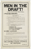 view Men in the Draft! Your Country Provides I - War Risk Insurance at a Cost So Low You Can't Afford Not to Take It ... digital asset: Men in the Draft! Your Country Provides I - War Risk Insurance at a Cost So Low You Can't Afford Not to Take It ...