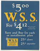 view $5.00 W.S.S. For $4.12- Will Cost 1c More Each Month After Feb. 1st 1918- Save and Buy for Cash or Installment Plan... digital asset: $5.00 W.S.S. For $4.12- Will Cost 1c More Each Month After Feb. 1st 1918- Save and Buy for Cash or Installment Plan...