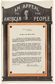 view An Appeal to the American People ... I Call Again Upon the People of the United States to Make Such Further Contributions as They Feel Disposed ... (October 29, 1917) digital asset: An Appeal to the American People ... I Call Again Upon the People of the United States to Make Such Further Contributions as They Feel Disposed ... (October 29, 1917)