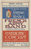 view Armory, Newark [...] French Army Band ... Patriotic Concert ... Benefit of the Motor Corps of America digital asset: Armory, Newark [...] French Army Band ... Patriotic Concert ... Benefit of the Motor Corps of America