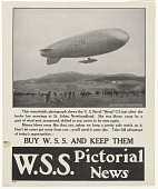 """view This Remarkable Photograph Show the U.S. Naval """"Blimp"""" C-5 ... Buy W.S.S. And Keep Them digital asset: This Remarkable Photograph Show the U.S. Naval """"Blimp"""" C-5 ... Buy W.S.S. And Keep Them"""
