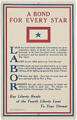 view A Bond for Every Star Labor Has Stood Behind the Government ... Buy Liberty Bonds of the Fourth Liberty Loan to Your Utmost digital asset: A Bond for Every Star Labor Has Stood Behind the Government ... Buy Liberty Bonds of the Fourth Liberty Loan to Your Utmost