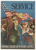 view Service Fall In! National League for Woman's Service digital asset: Service Fall In! National League for Woman's Service