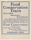 view Food Conservation Train ... An Exhibit and Demonstration of Canning, Preserving and Drying Fruits and Vegetables ... United States Food Administration. digital asset: Food Conservation Train ... An Exhibit and Demonstration of Canning, Preserving and Drying Fruits and Vegetables ... United States Food Administration