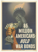 view 85 Million Americans Hold War Bonds. Treasury Department. digital asset: 85 Million Americans Hold War Bonds. Treasury Department