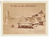 view War in the Desert / the Italians Erected a Monolith at the Side of Their Desert Motor-Road ... / War in the Desert as This Issue of War in Pictures ... digital asset: War in the Desert / the Italians Erected a Monolith at the Side of Their Desert Motor-Road ... / War in the Desert as This Issue of War in Pictures ...