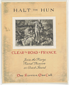 view Halt the Hun Submarine / Clear the Road to France/  Join the Navy, Naval Reserve, or Coast Guard One Service, One Call digital asset: Halt the Hun Submarine / Clear the Road to France/  Join the Navy, Naval Reserve, or Coast Guard One Service, One Call