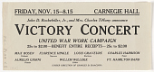 view Friday, Nov. 15 - 8:15. Carnegie Hall John D. Rockefeller, Jr. And Mrs. Charles Tiffany Announce Victory Concert ... digital asset: Friday, Nov. 15 - 8:15. Carnegie Hall John D. Rockefeller, Jr. And Mrs. Charles Tiffany Announce Victory Concert ...