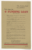view The Victory Loan at a Glance! Facts About the 4% Funding Loan ... Last Day for Applications, Sat. 12 July, 1919 digital asset: The Victory Loan at a Glance! Facts About the 4% Funding Loan ... Last Day for Applications, Sat. 12 July, 1919