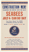 "view Construction Men! Volunteer for Service With the Navy Seabees July 4 - ""Can Do"" Day ... digital asset: Construction Men! Volunteer for Service With the Navy Seabees July 4 - ""Can Do"" Day ..."