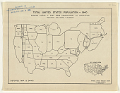 view Total United States Population - 1940 Showing State Area if Area Were Proportional to Population ... National Opinion Research Center. digital asset: Total United States Population - 1940 Showing State Area if Area Were Proportional to Population ... National Opinion Research Center