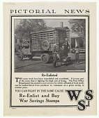 view Pictorial News / Re-Enlisted This Army Truck Has Been Remodeled and Re-Enlisted ... W.S.S. digital asset: Pictorial News / Re-Enlisted This Army Truck Has Been Remodeled and Re-Enlisted ... W.S.S.