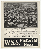 view Stolen by Germany Thousands of Dynamos, Stolen From Belgian and French Factories, on Their Way Back From Germany ... W.S.S. Pictorial News digital asset: Stolen by Germany Thousands of Dynamos, Stolen From Belgian and French Factories, on Their Way Back From Germany ... W.S.S. Pictorial News