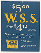 view $5.00 W.S.S. For 4.12 Will Cost 1c More Each Month After Feb. 1st 1918. Save and Buy for Cash or Installment Plan... digital asset: $5.00 W.S.S. For 4.12 Will Cost 1c More Each Month After Feb. 1st 1918. Save and Buy for Cash or Installment Plan...