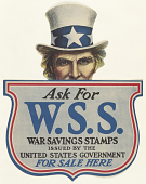 view Ask for W.S.S. War Savings Stamps Issued by the United State Government- For Sale Here. digital asset: Ask for W.S.S. War Savings Stamps Issued by the United State Government- For Sale Here