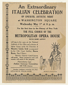 view An Extraordinary Italian Celebration ... The Full Chorus of the Metroplitan Opera House ... (May 1, 1918) digital asset: An Extraordinary Italian Celebration ... The Full Chorus of the Metroplitan Opera House ... (May 1, 1918)