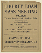 view Liberty Loan Mass Meeting Speakers the Most Rev. Cosmo Gordon Long, D.D. The Lord Archbishop of York ... digital asset: Liberty Loan Mass Meeting Speakers the Most Rev. Cosmo Gordon Long, D.D. The Lord Archbishop of York ...