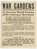 view War Gardens to Prevent World Famine Join National Movement ... (Wednesday, April 18, 1917) digital asset: War Gardens to Prevent World Famine Join National Movement ... (Wednesday, April 18, 1917)