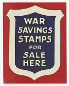view War Savings Stamps for Sale Here. digital asset: War Savings Stamps for Sale Here
