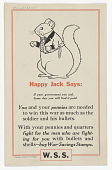 view Happy Jack Says: If Your Government [--?] You Aid, Some Day You Will Find It Paid ... T. W. Burgess. digital asset: Happy Jack Says: If Your Government [--?] You Aid, Some Day You Will Find It Paid ... T. W. Burgess.