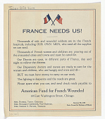 view France Needs Us! Thousands of Sick and Wounded Soldiers Are in French Hospitals, Including Our Own Men, Who Need All the Supplies We Can Send ... digital asset: France Needs Us! Thousands of Sick and Wounded Soldiers Are in French Hospitals, Including Our Own Men, Who Need All the Supplies We Can Send ...