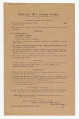 view Rules for War Savings Groups Name and Object of Group ... digital asset: Rules for War Savings Groups Name and Object of Group ...