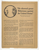 "view ""He Showed Great Bitterness Against the United States"" ... digital asset: ""He Showed Great Bitterness Against the United States"" ..."