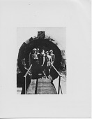 view [The entrance to the Doughnut Hut at the World's Fair]: [black-and-white photoprint] digital asset: [The entrance to the Doughnut Hut at the World's Fair]: [black-and-white photoprint]