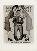 view [Service man being served donuts by two USO ladies] : [document] digital asset: [Service man being served donuts by two USO ladies] : [document]