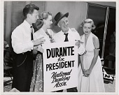 view Durante / for / President / National / Dunking / Assn. [black-and-white photoprint] digital asset: Durante / for / President / National / Dunking / Assn. [black-and-white photoprint]
