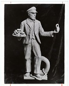 view [Statue of Captain Hanson Gregory, inventor of the donut hole : black-and-white photoprint.] digital asset: [Statue of Captain Hanson Gregory, inventor of the donut hole : black-and-white photoprint.]